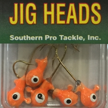 1/8oz. Glow JigHead - Orange (5 Pk)