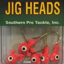 1/8oz. Glow JigHead - Flame Red (5 Pk)