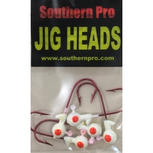 1/16oz. White JigHead #2 Red Hook (5 Pk)