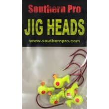 1/16oz. Chartreuse JigHead #2 Red Hook (5 Pk)