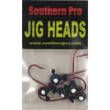 1/16oz. Black JigHead #2 Red Hook (5 Pk)
