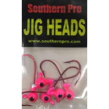 1/16oz. Pink JigHead #2 Red Hook (5 Pk)