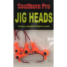 1/16oz. Orange JigHead #2 Red Hook (5 Pk)