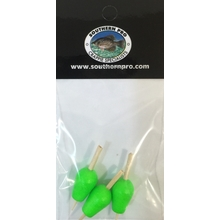 "Green Slip Peg Floats 3/8"" (3 pack)"