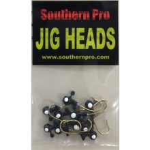 1/64 oz. Round Head - Black w/ White Eyes (10 Pack)