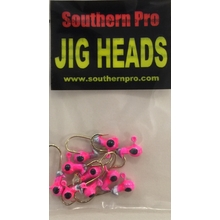 1/64 oz. Round Head - Pink w/ Black Eyes (10 Pack)