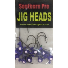 10 Pk. 1/32oz. Purple w/ White Eyes #2 Hook
