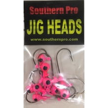 10 Pk. 1/32oz. Pink w/ Blk. Eyes #2 Hook