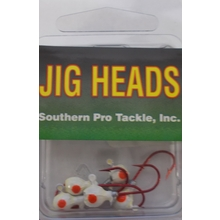 1/32oz. Jighead- White- #4 Red Hook- 5pk