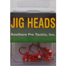 1/32oz. Jighead- Red- #4 Red Hook- 5pk