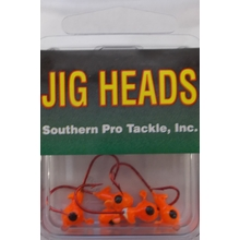 1/32oz. Jighead- Orange- #4 Red Hook- 5pk