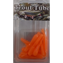 "1"" Trout Tube 10 pack - Orange Glow"
