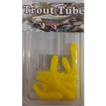 "1"" Trout Tube 10 pack - Corn Yellow"
