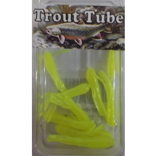 "1"" Trout Tube 10 pack - Chartreuse Glow"