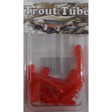 "1"" Trout Tube 10 pack - Salmon Egg Red"