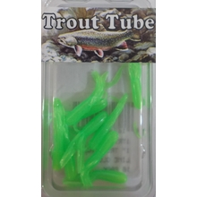 "1"" Trout Tube 10 pack - Lime Glow"