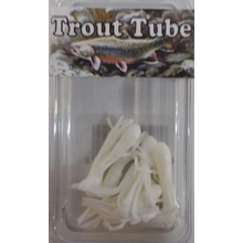 "1"" Trout Tube 10 pack - Pure White"
