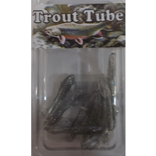 "1"" Trout Tube 10 pack - Smoky Flash"