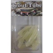 "1"" Trout Tube 10 pack - Earthworm Glow"