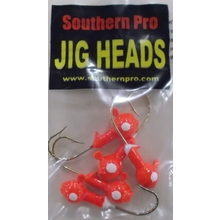 1/8oz. FlameRed JigHead 5 Pack